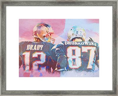 Colorful Brady And Gronkowski Framed Print by Dan Sproul