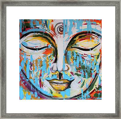 Colorful Buddha Framed Print