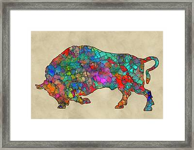 Colorful Buffalo Framed Print