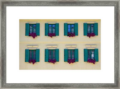 Colorful Building Framed Print by David Buffington