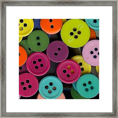 Colorful Buttons Framed Print by Bonnie Bruno