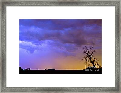 Colorful C2c Lightning Country Landscape Framed Print