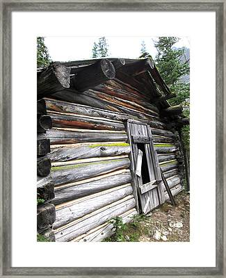 Colorful Cabin  Framed Print by Stephanie  Skeem