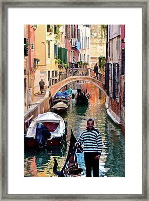 Colorful Canals Framed Print by Frozen in Time Fine Art Photography