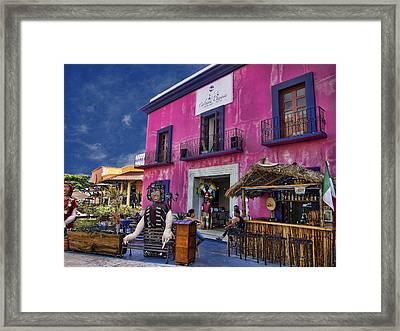Colorful Cancun Framed Print by Douglas Barnard