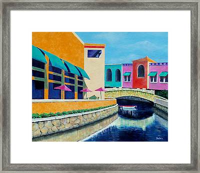 Framed Print featuring the painting Colorful Cancun by Susan DeLain
