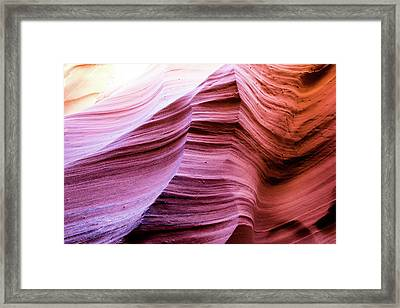 Framed Print featuring the photograph Colorful Canyon by Stephen Holst
