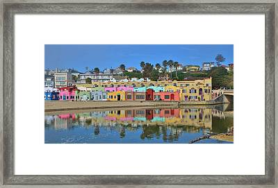 Colorful Capitola Venetian Hotel Framed Print