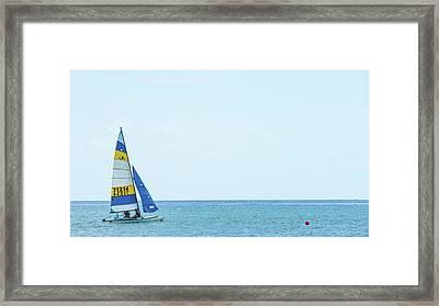 Colorful Catamaran 3 Delray Beach Florida Framed Print