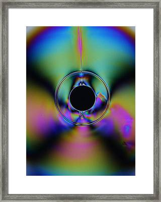 Colorful Cd Framed Print by Donald Tusa
