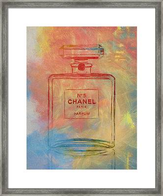 Colorful Chanel Five Framed Print by Dan Sproul