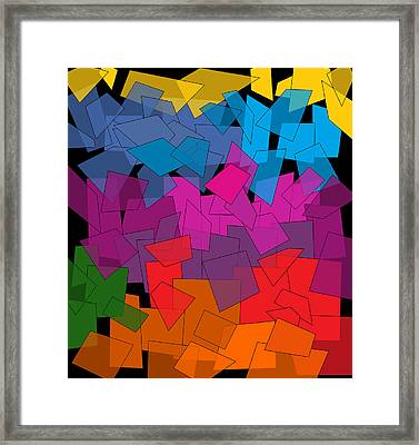 Colorful Chaos Framed Print by Val Arie