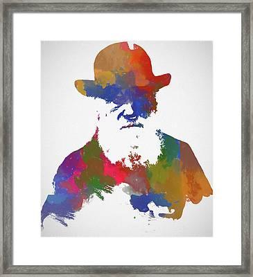 Colorful Charles Darwin Framed Print