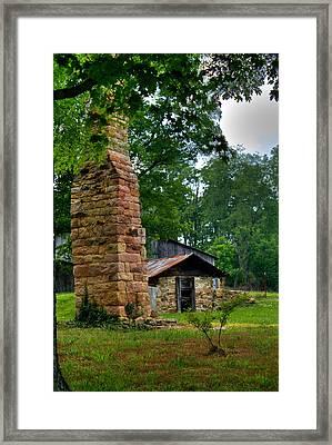 Colorful Chimney Framed Print by Douglas Barnett