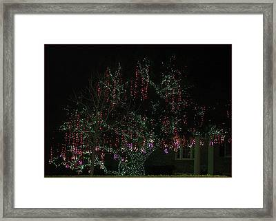 Framed Print featuring the digital art Colorful Christmas Lights by Ellen Barron O'Reilly