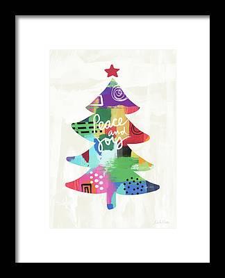 modern christmas framed prints