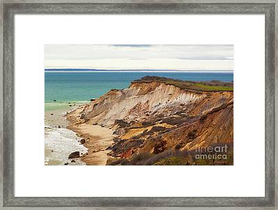 Framed Print featuring the photograph Colorful Clay Cliffs On The Vineyard by Michelle Wiarda