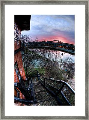 Colorful Cleveland Framed Print by Joshua Ball