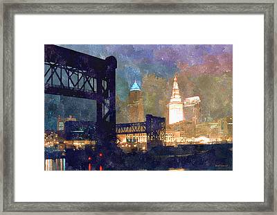 Colorful Cleveland Framed Print by Kenneth Krolikowski