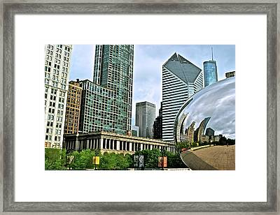 Colorful Cloud Gate Framed Print by Frozen in Time Fine Art Photography