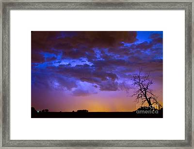 Colorful Cloud To Cloud Lightning Framed Print by James BO  Insogna