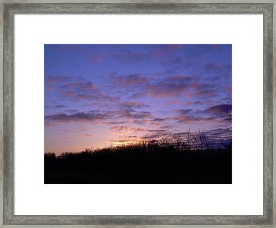 Framed Print featuring the photograph Colorful Clouds In The Sky by Kent Lorentzen