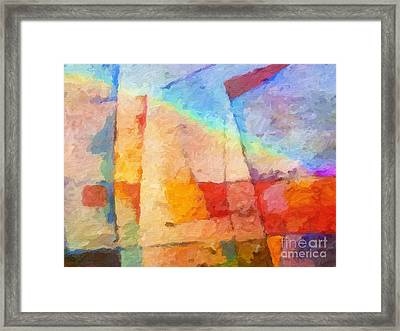 Colorful Coast Framed Print by Lutz Baar
