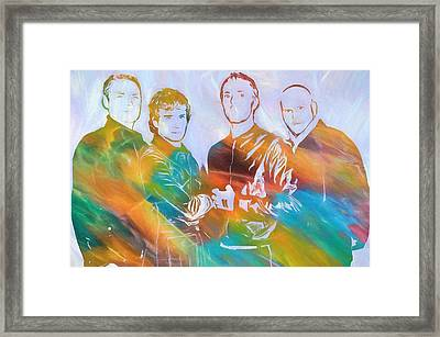 Colorful Coldplay Framed Print by Dan Sproul