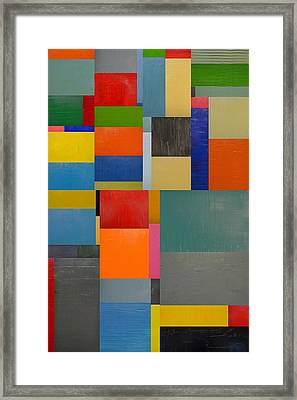 Colorful Collage 1.0 Framed Print by Michelle Calkins