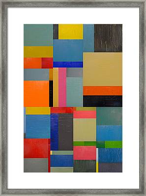 Colorful Collage 2.0 Framed Print by Michelle Calkins