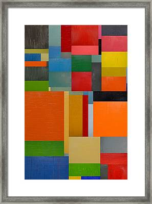 Colorful Collage 3.0 Framed Print by Michelle Calkins