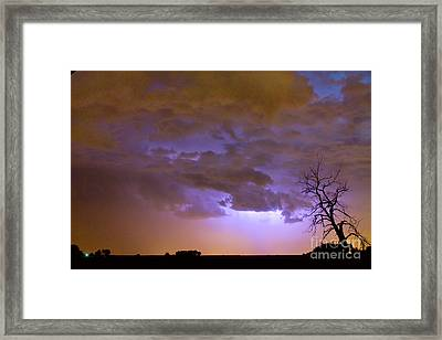 Colorful Colorado Cloud To Cloud Lightning Thunderstorm 27 Framed Print