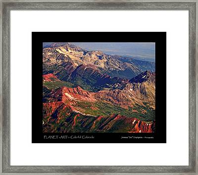 Colorful Colorado Rocky Mountains Planet Art Poster  Framed Print by James BO  Insogna