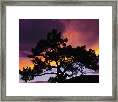 Colorful Colorado Sunset Framed Print