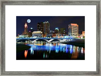 Colorful Columbus Framed Print by Frozen in Time Fine Art Photography