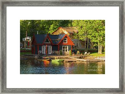 Colorful Cottage - Painterly Framed Print