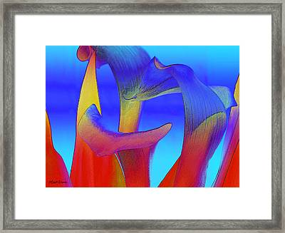 Colorful Crowd Framed Print by Michelle Wiarda