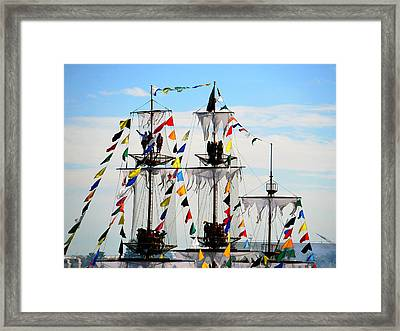 Colorful Crows Nest Framed Print by David Lee Thompson