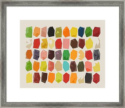 Colorful Crystal Abstract Framed Print
