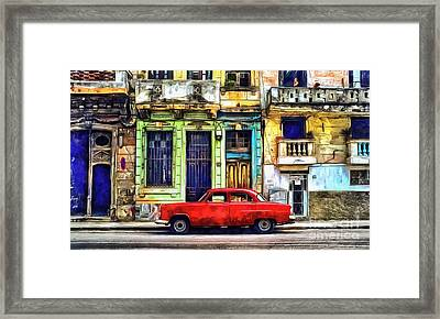 Framed Print featuring the painting Colorful Cuba by Edward Fielding