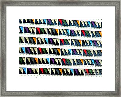 Colorful Curtainwall Framed Print by Randall Weidner