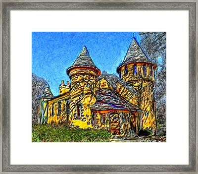 Colorful Curwood Castle Framed Print by Bruce Nutting