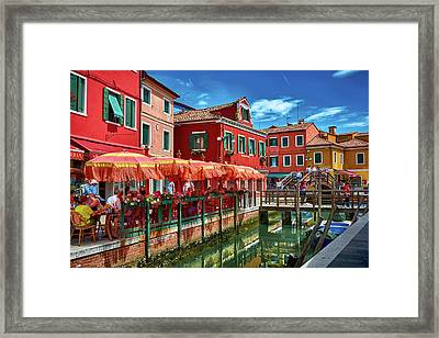 Colorful Day In Burano Framed Print