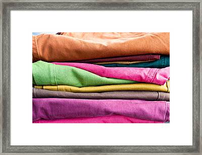 Colorful Denim Framed Print