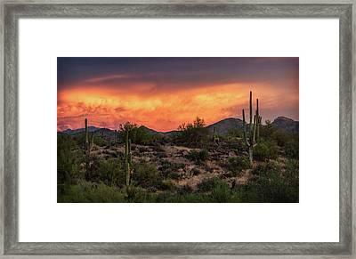 Framed Print featuring the photograph Colorful Desert Skies At Sunset  by Saija Lehtonen