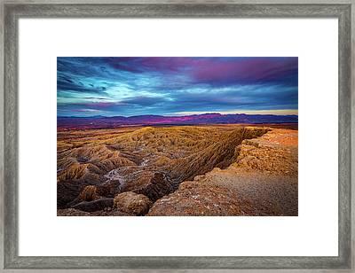 Colorful Desert Sunrise Framed Print