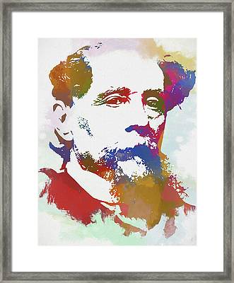 Colorful Dickens Framed Print