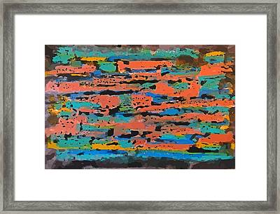 Colorful Digital Abstract Framed Print by John Malone