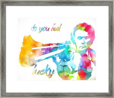 Colorful Dirty Harry Framed Print