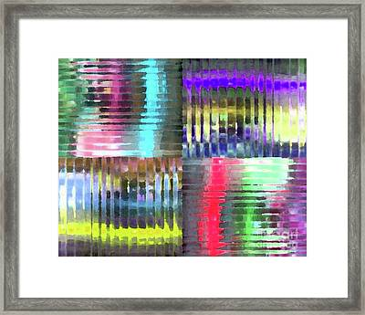 Colorful Distortions Framed Print